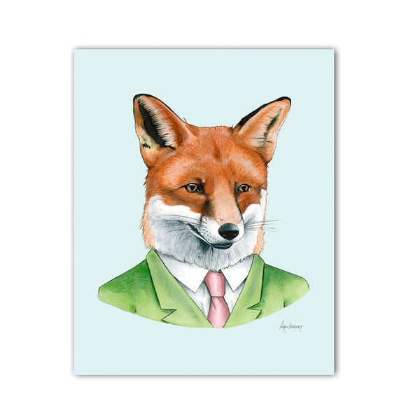 Fox Gentleman Art Print