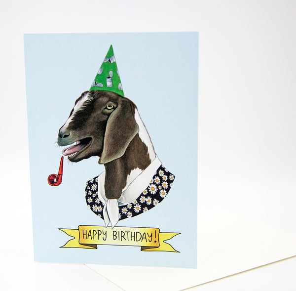 Happy Birthday Card - Party Goat