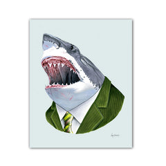 Shark Art Print - Great White