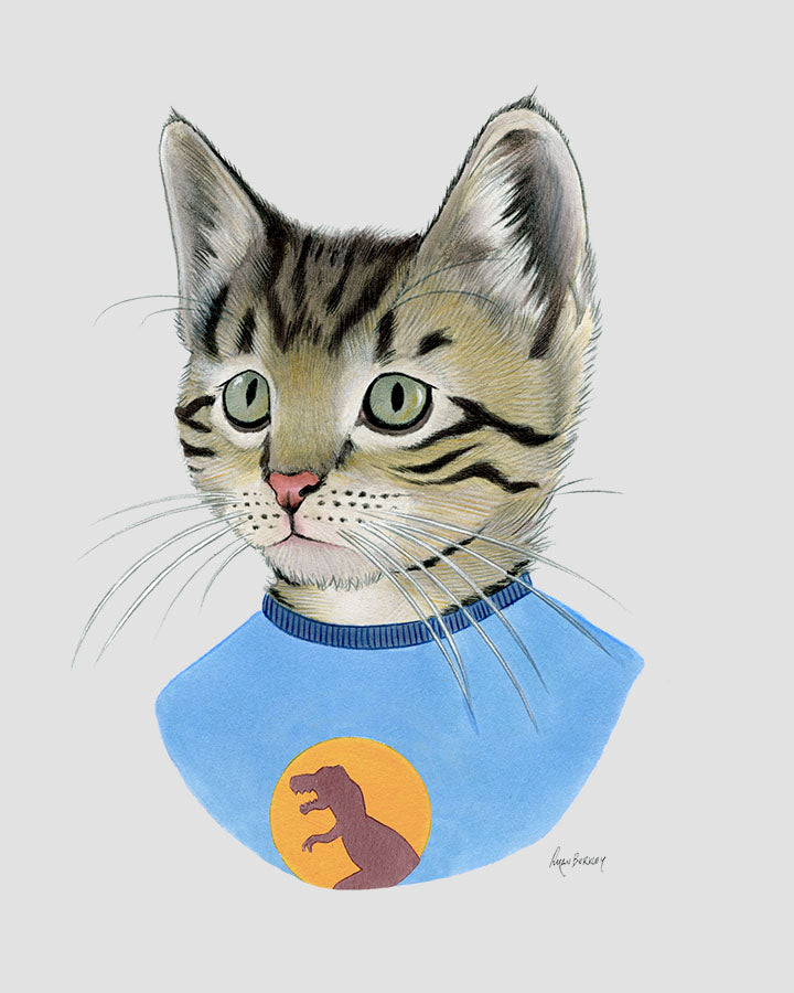 Cat art print - Tabby Kitten