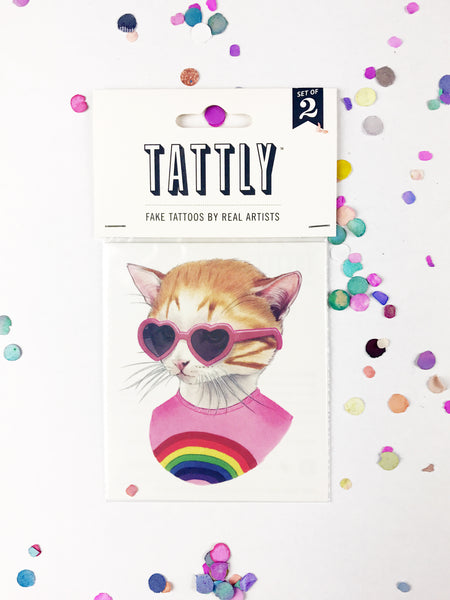 Temporary Tattoos - Rainbow Kitten 2-Pack