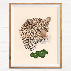 Leopard / Leopard Plant - Naked Animals Print