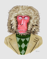Monkey art print - Snow Monkey