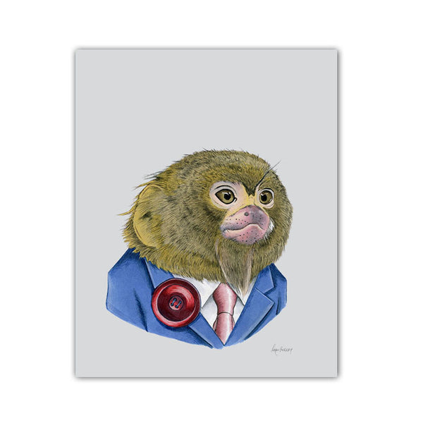 Monkey art print - pygmy marmoset