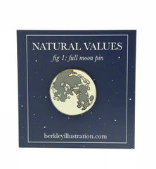Enamel Pin - Full Moon - Natural Values