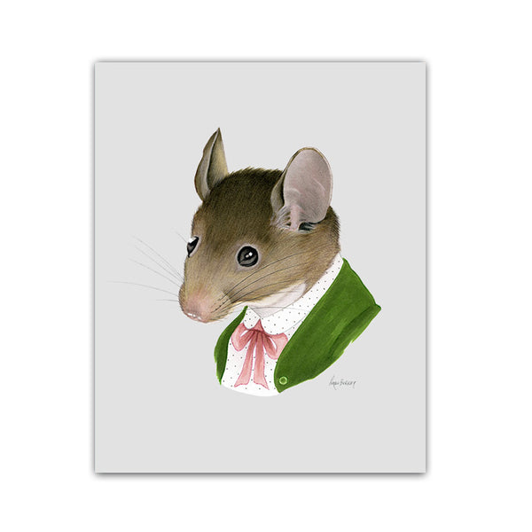 Mouse Lady art print