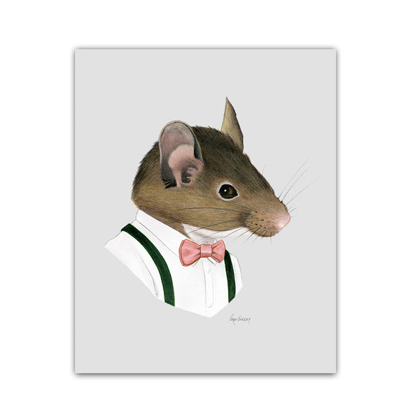 Mouse Gentleman art print
