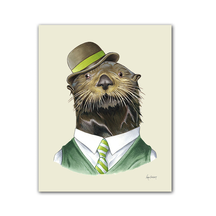 Sea Otter Gentleman art print