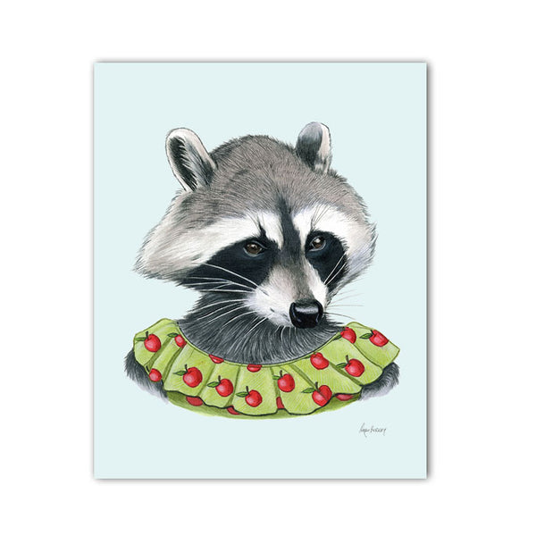 Raccoon Lady Art Print