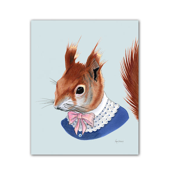 Squirrel art print - Red Lady