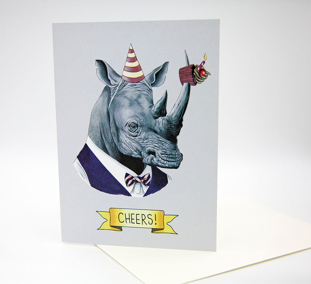 Celebration Card - Party Rhino