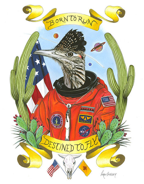 Roadrunner Astronaut Limited Edition Art Print