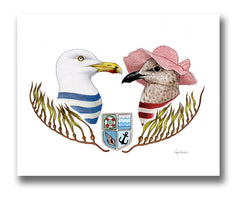 Seagull Bird Couple