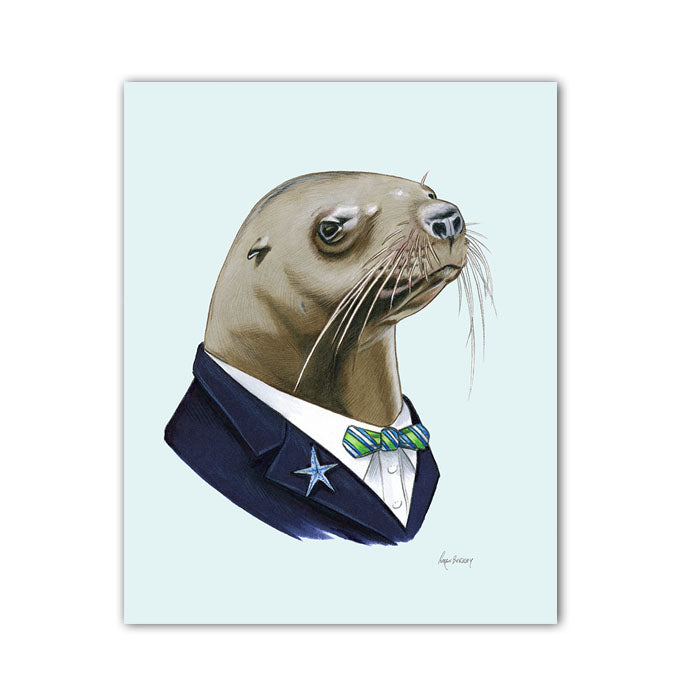 Sea Lion Gentleman art print