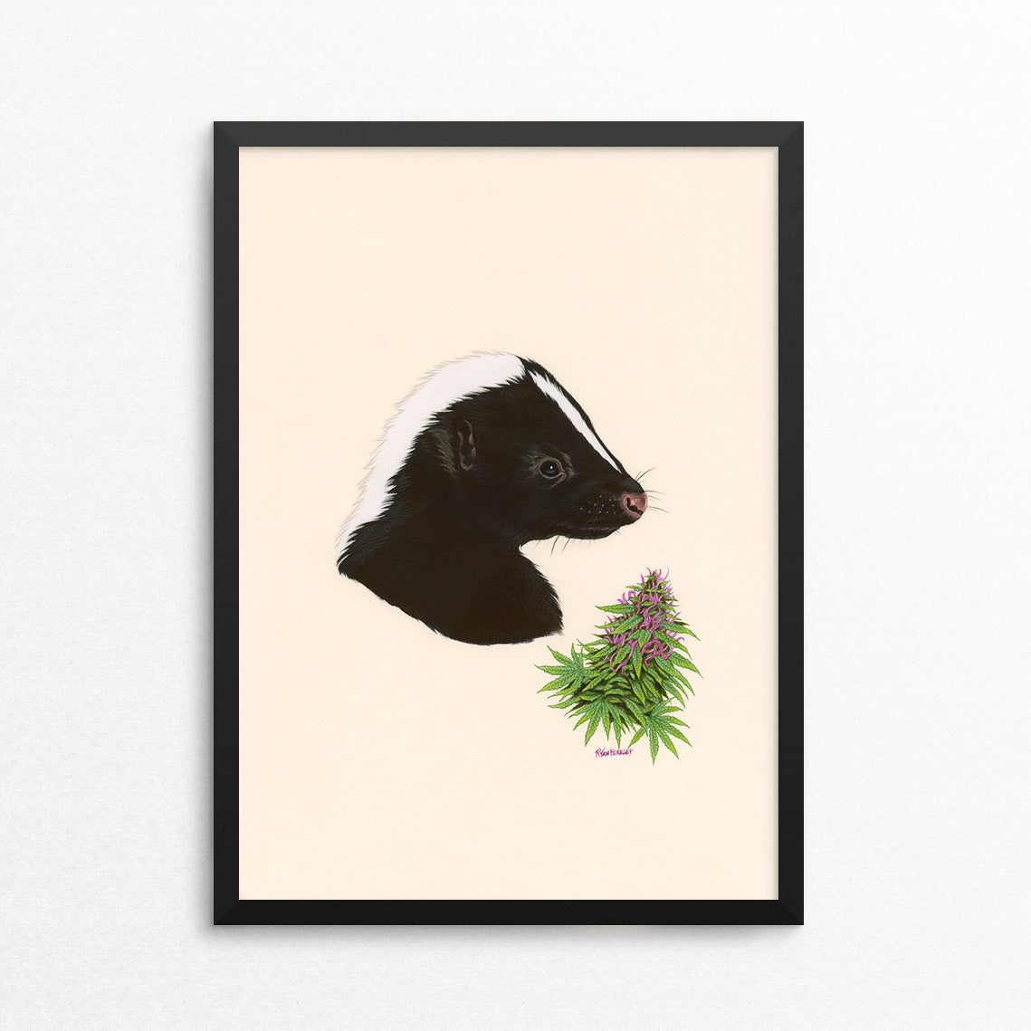Skunk / Skunk Weed - Naked Animals Print