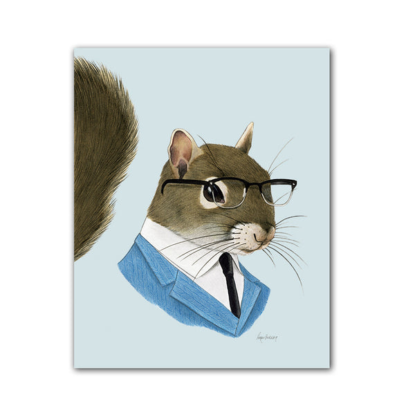 Squirrel Gentleman Art Print