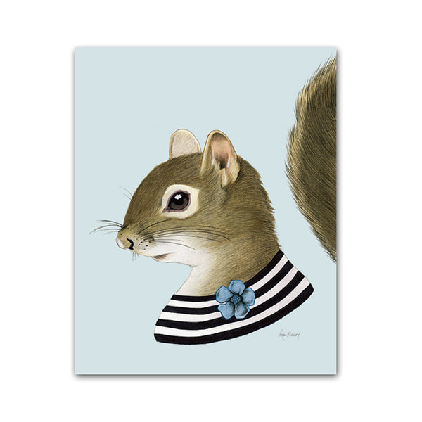 Squirrel lady Art Print