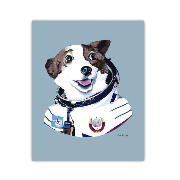 Dog Art Print - Strelka The Space Dog