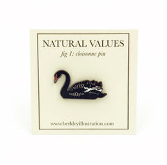 Enamel Pin - Black Swan - Natural Values