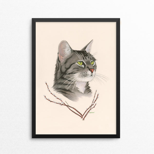 Tabby Cat / Pussy Willow - Naked Animals Print