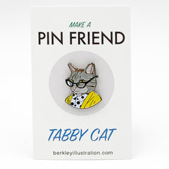 Enamel Pin - Tabby Cat Lady