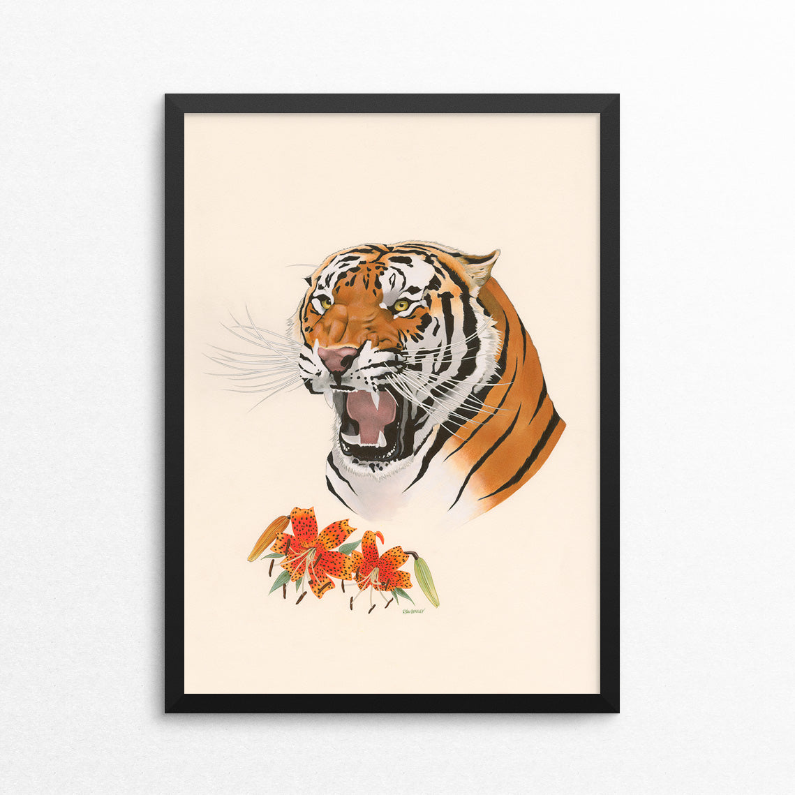 Tiger / Tiger Lily - Naked Animals Print