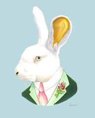 Rabbit Art Print - White Rabbit Gentleman