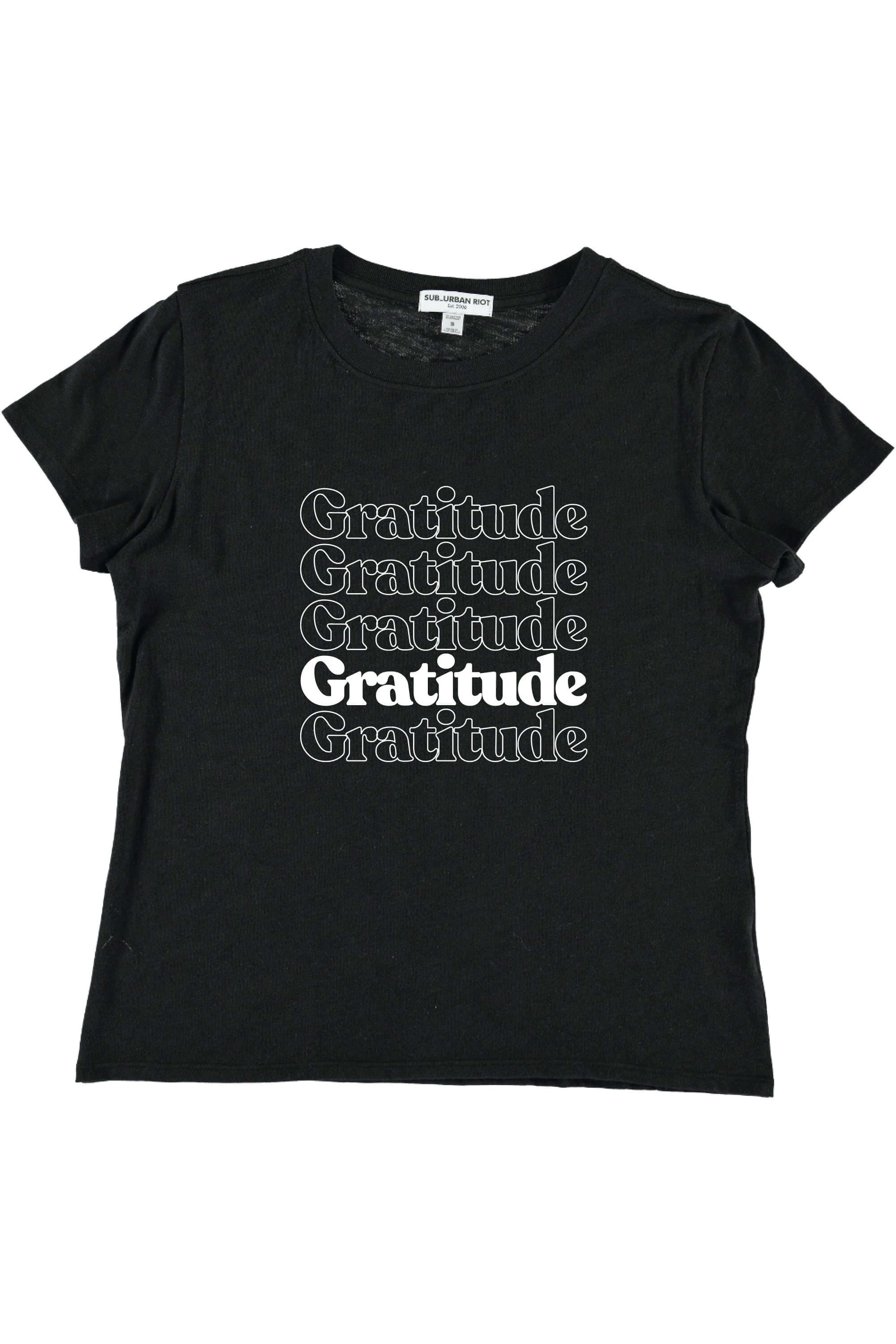 GRATITUDE YOUTH SIZE LOOSE TEE