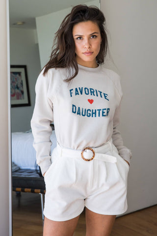 FAVORITE DAUGHTER WILLOW SWEATSHIRT - OAT