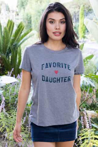 FAVORITE DAUGHTER LOOSE TEE - HTHR