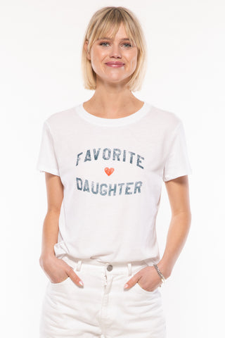 FAVORITE DAUGHTER LOOSE TEE - WHITE