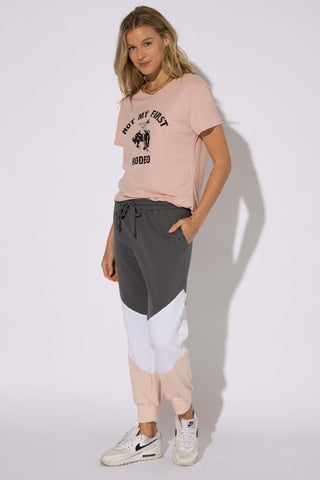 NOT MY FIRST RODEO LOOSE TEE - BLUSH