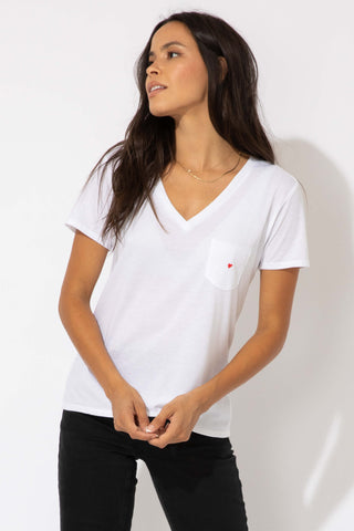 FRANKIE V NECK - WHITE