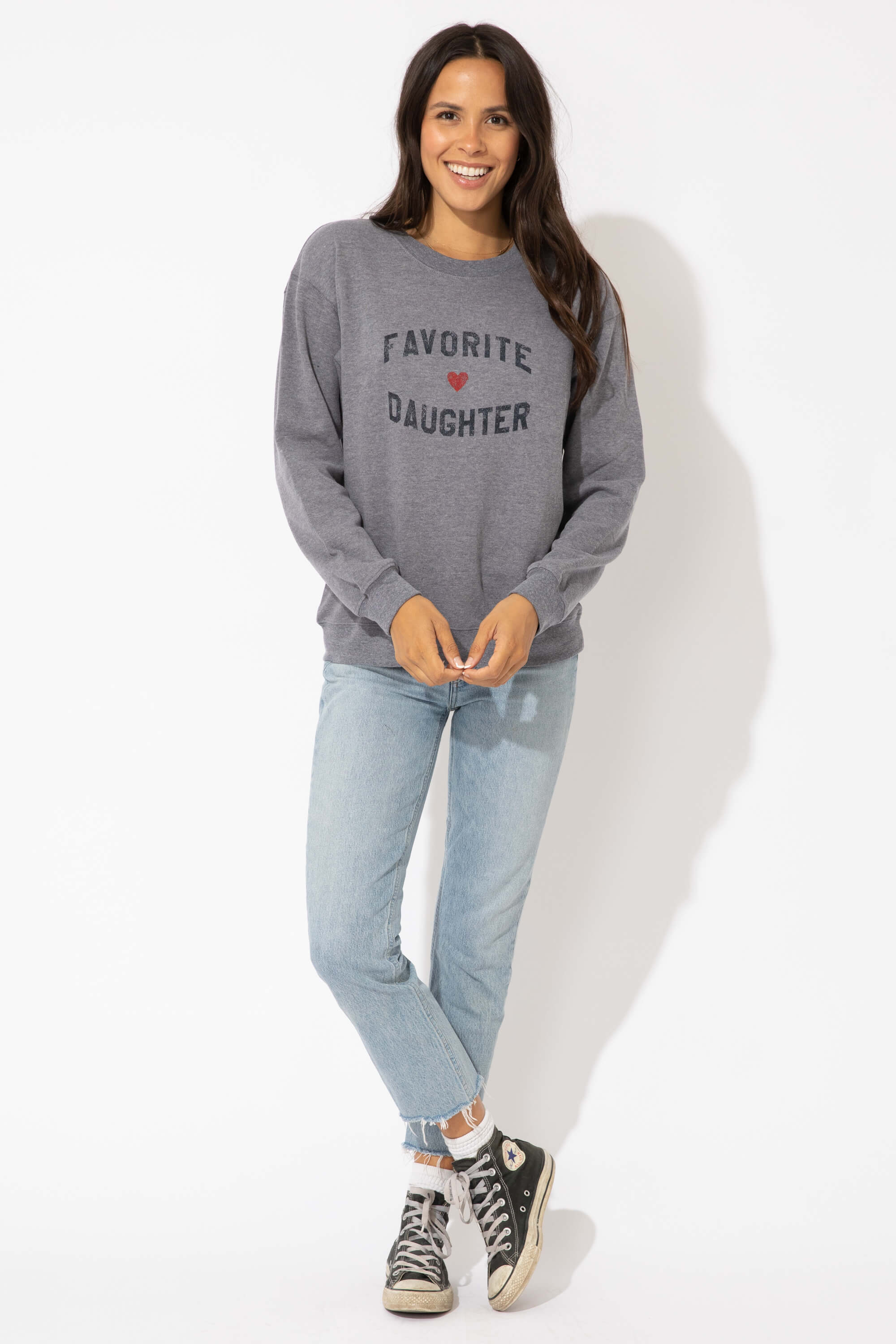 FAVORITE DAUGHTER WILLOW SWEATSHIRT - HTHR