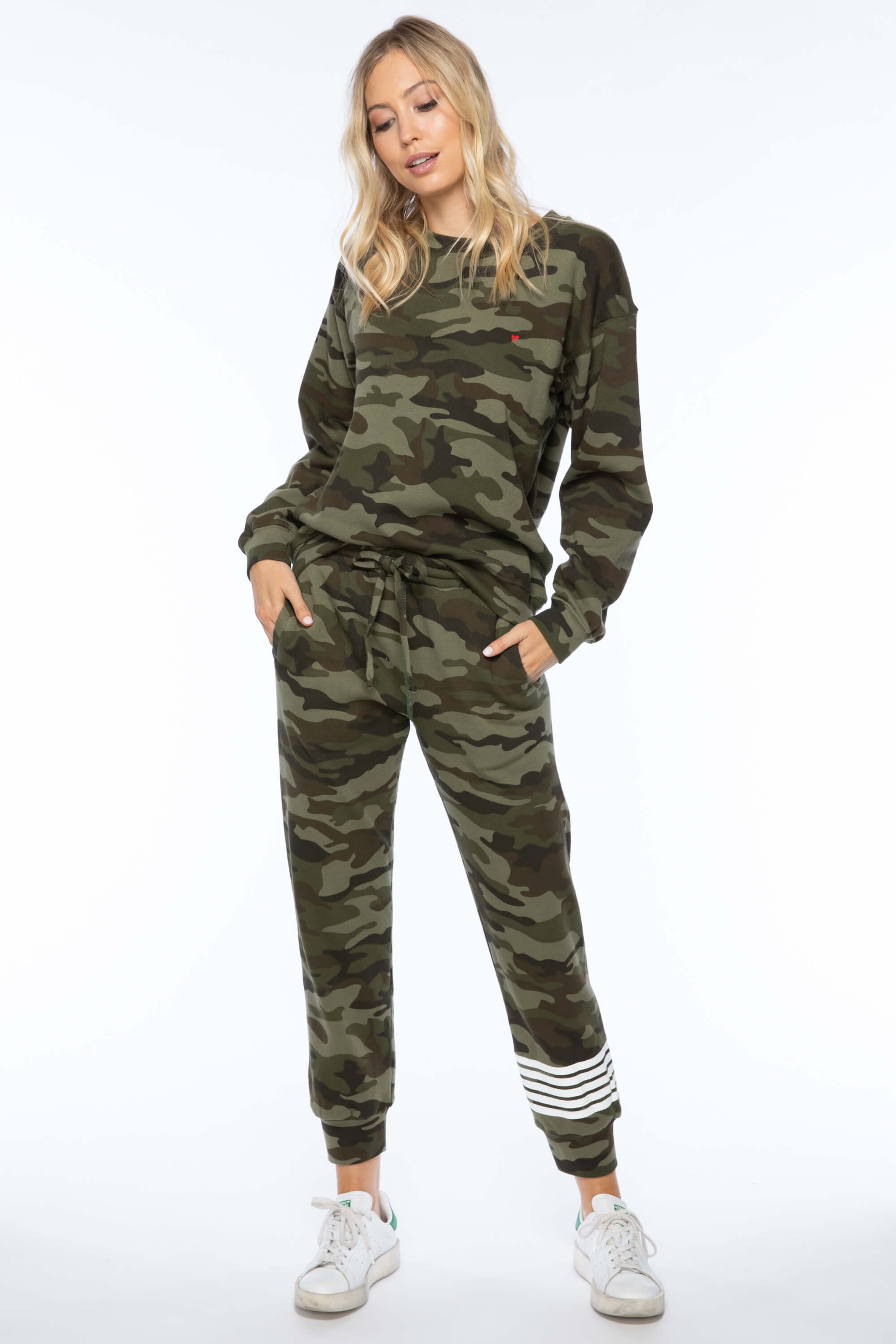CAMO STRIPE CAMBRIDGE SWEATS