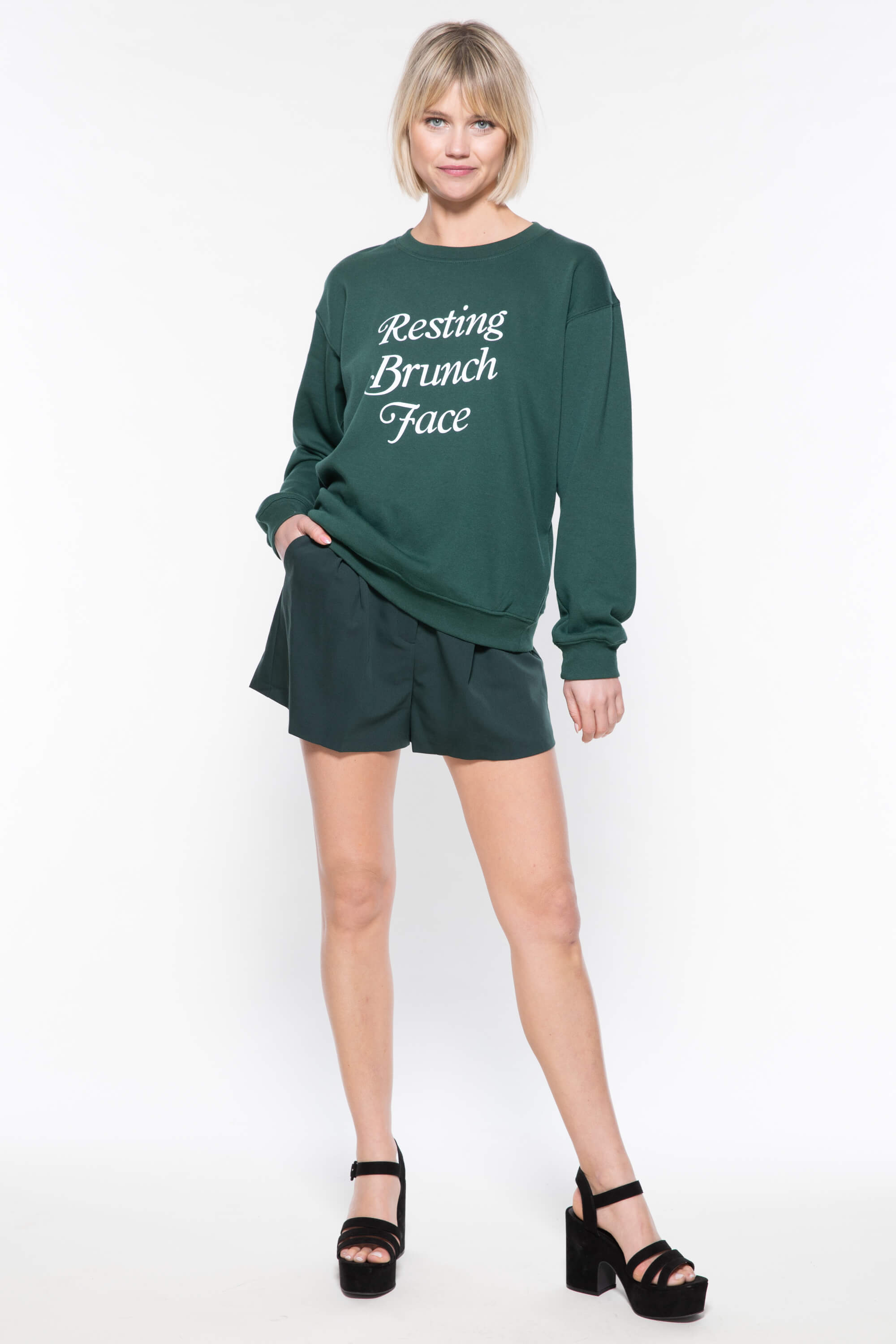 RESTING BRUNCH FACE WILLOW SWEATSHIRT