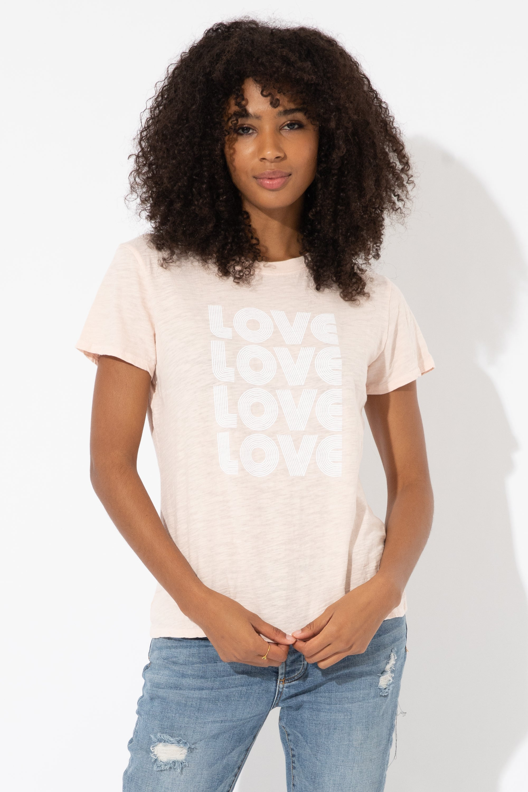 LOVE STACKED SLUB LOOSE TEE