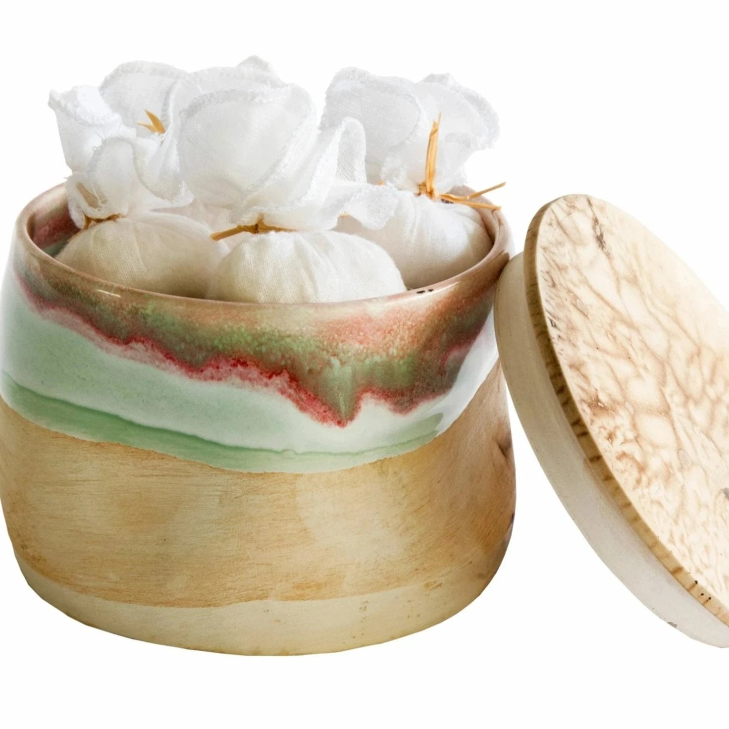 Ceramic Box with Jasmine Bath Salts