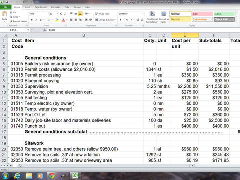 residential construction estimating templates made easy if you need