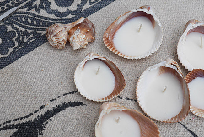 Soulstice Swim DIY - Homemade Shell Candles