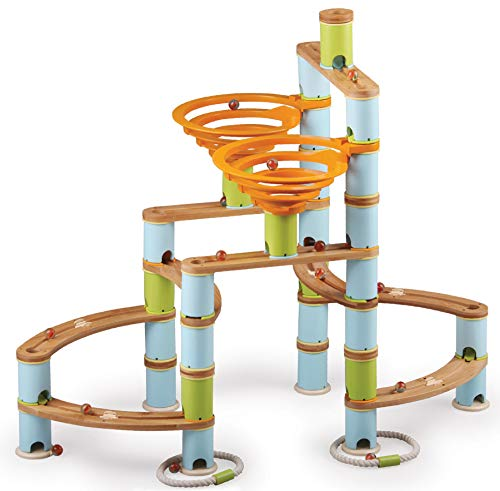 Fat Brain Toys Bamboo Builder Marble Run - 168pcs