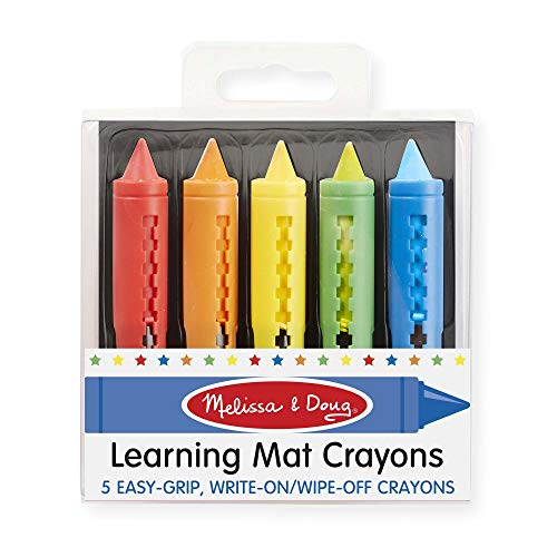 Melissa and Doug Learning Mat Crayons (5 colors)