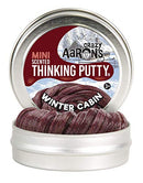 Crazy Aaron's Thinking Putty - Winter Cabin - 2""