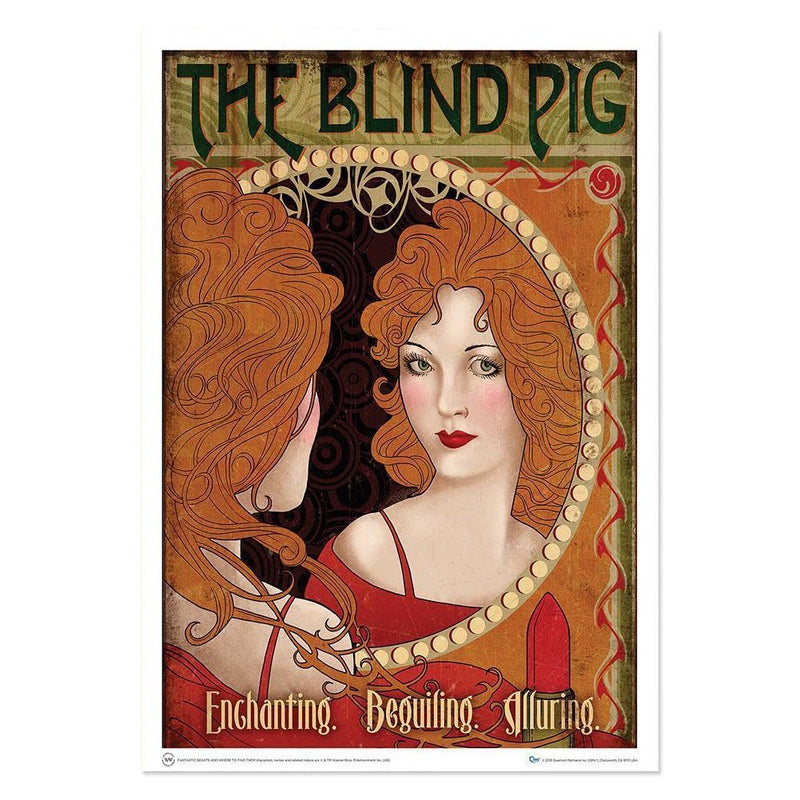 "QMx Fantastic Beasts & Where to Find Them Blind Pig Art Print 18"" x 24"""