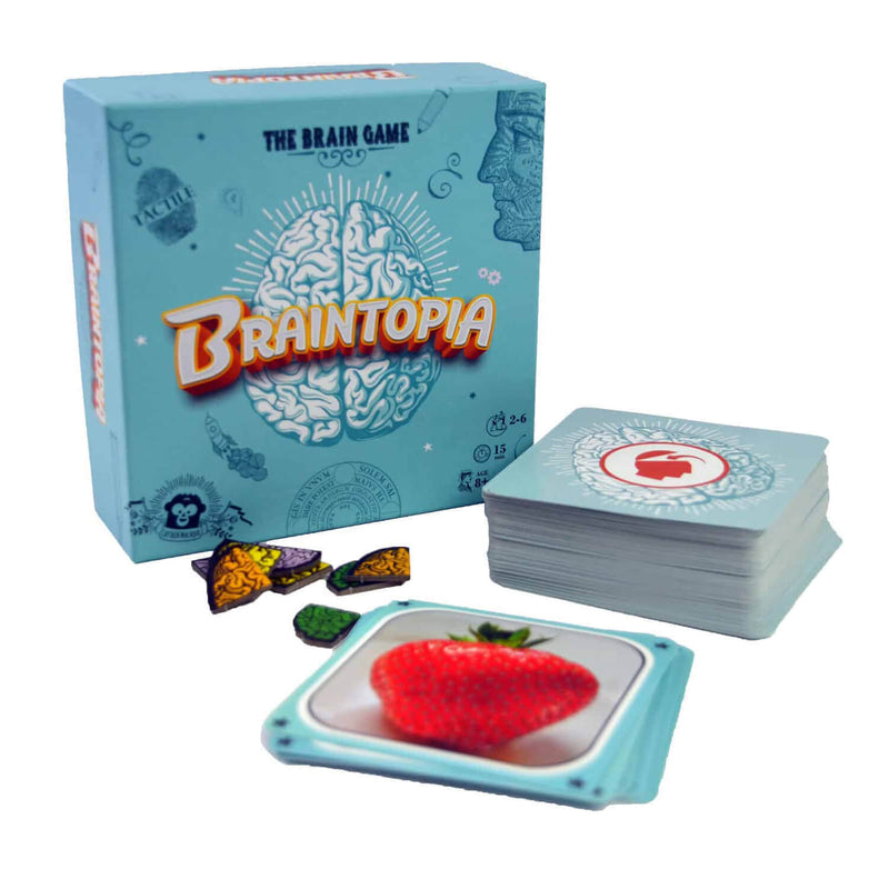 Contents and instructions of Braintopia game.