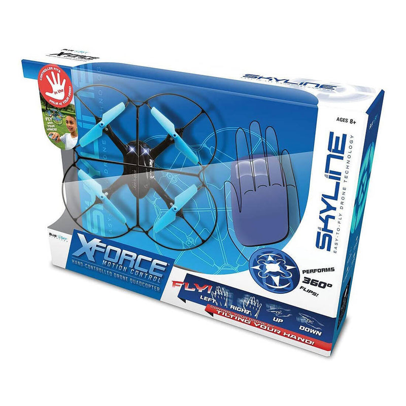 Front view of the X-Force Hand Controlled Drone package.