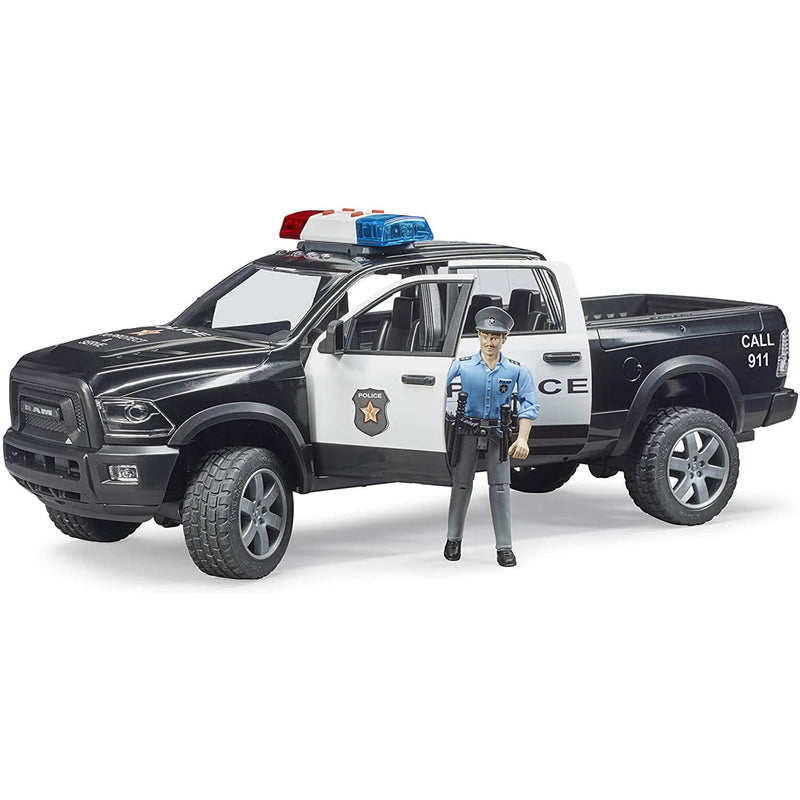 Bruder Dodge RAM Police with Policeman and Lights and Sounds Module
