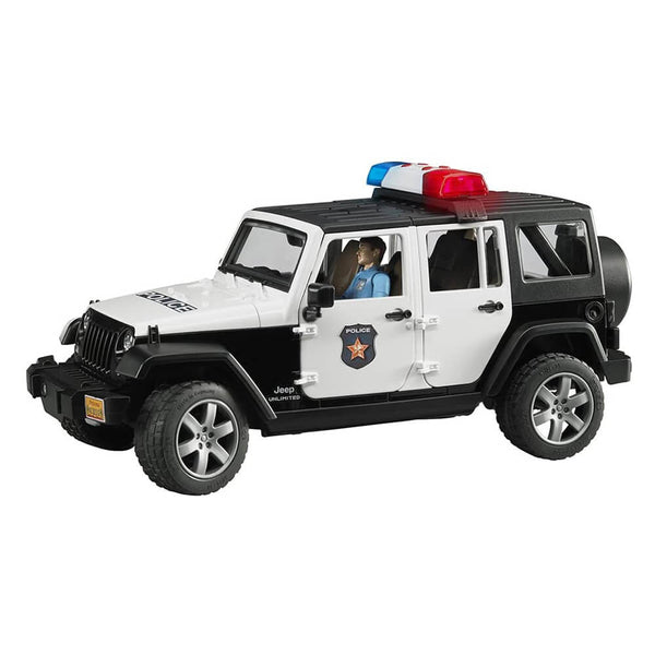 Bruder Pro Series Jeep Rubicon Police 1:16 Scale Vehicle w Policeman