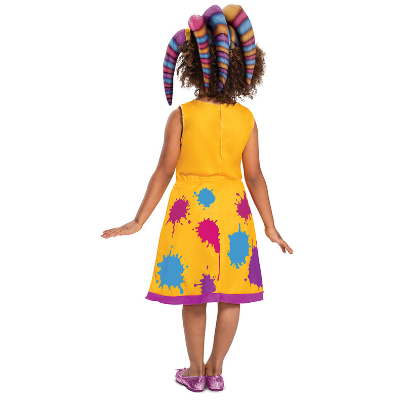 Back view of the Disguise Super Monsters Zoe Walker Classic Costume 3T-4T.
