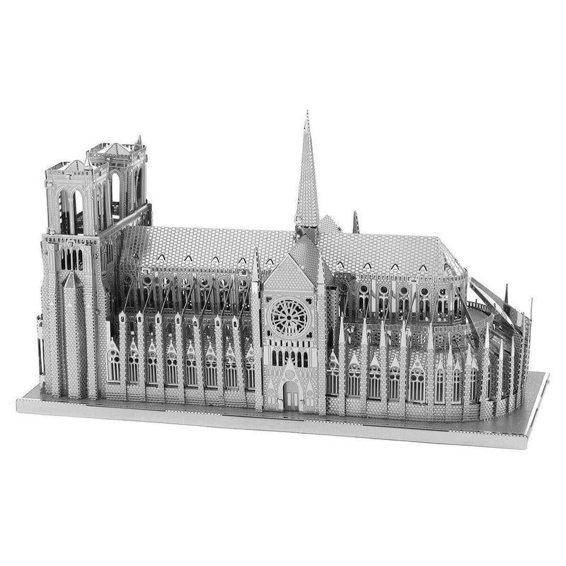 Metal Earth Premium Iconx Notre Dame Cathedral Metal Model - 2 Sheets